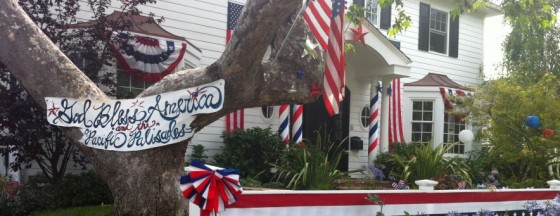 The Mercer Residence on Toyopa Drive--Ready for the July 4th Parade--Winner of the 2013 Best Decorations for the Fourth of July